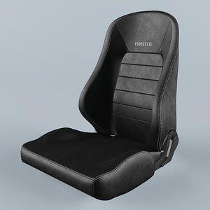 BRIDE EUROSTER II SPORTE Black Seat 3D model