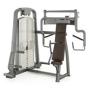 3D GymEquipment Seated Chest Press