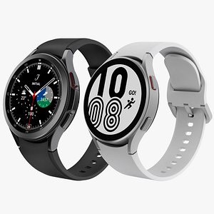 3D Samsung Galaxy Watch 4 Classic 46 mm and Galaxy Watch 4 44mm