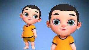 3D Joy Baby Cartoon Character