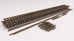 Old Railway Tracks 3D model