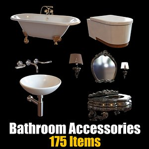 3D Bathroom Accessories Collection - 175 Items