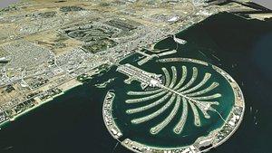 Cityscape Dubai United Arab Emirates 3D