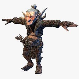 3D old goblin thief model