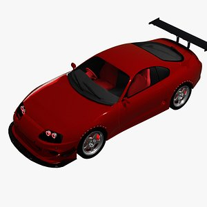 3D model Toyota Supra With optional underglow