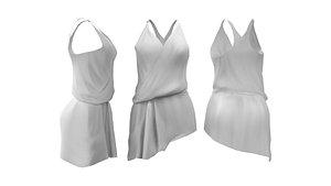 3D Toga Dress model