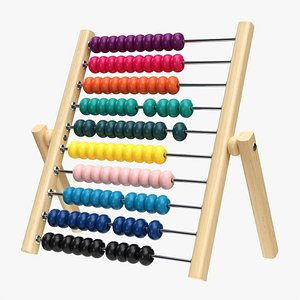 3D Abacus counting frame model