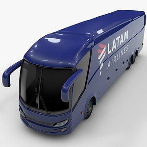shuttle bus latam 3D model