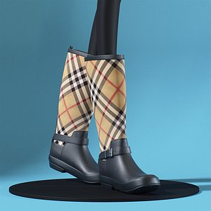 Burberry Check Boots 3D model
