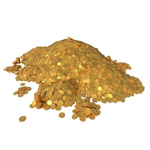 gold piles coin model