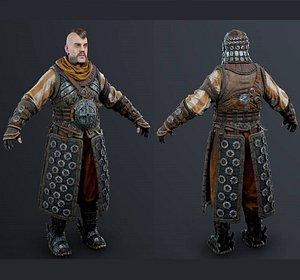 3D soldier warrior armor