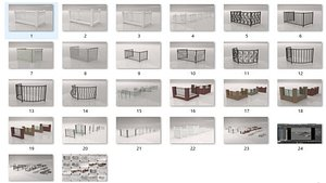 3D Fence Collections model