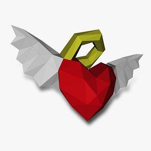 ANGELIC HEART 3D Papercraf 3D model
