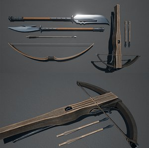 3D Medieval Weapons Pack model