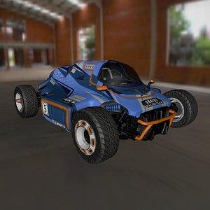 concept car racing 3D model