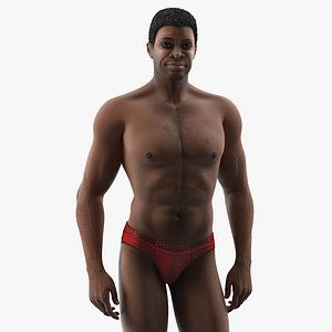 african american man rigged 3D model