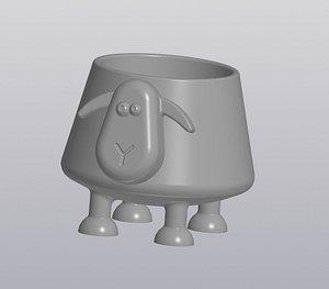 3D Flowerpot