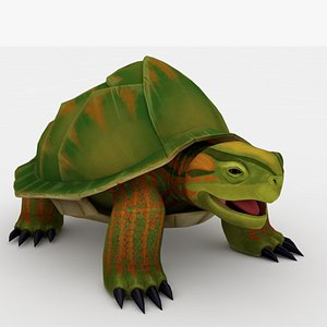 Tortoise Rigged and Animated 3D model