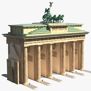 3D brandenburg gate triumphal arch model