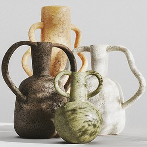 SET of VASES WITH HANDLES by ZARA HOME model