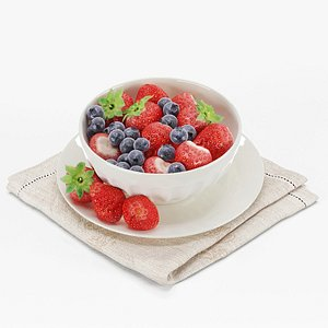 cup with berries 3D