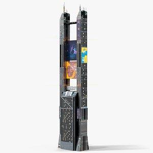 Sci-Fi Futuristic Skyscraper PBR 09 3D