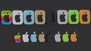 apple logo pack 3D