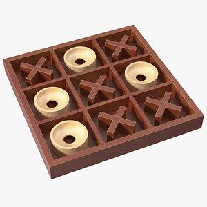3D Tic Tac Toe Wooden Board Game