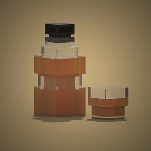 Voxel Whiskey 3D model