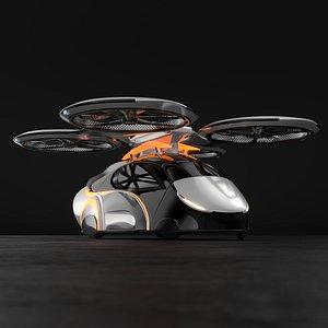 3D Flying autonomous passenger drone concept