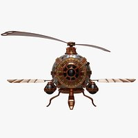 3D Steampunk Helicopter