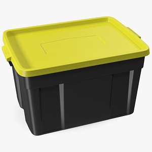3D Polyethylene Storage Bin 25 Gallon