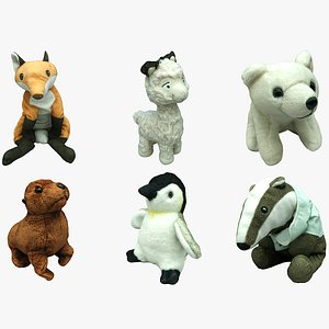 plush animal games 3D model