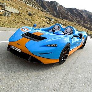 2021 McLaren Elva 3D model