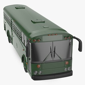 3D Prison Bus Exterior Only