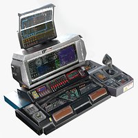 Sci-fi Military Console - Game-ready PBR