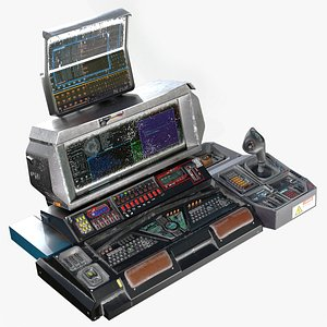 3D Sci-fi Military Console - Game-ready PBR model