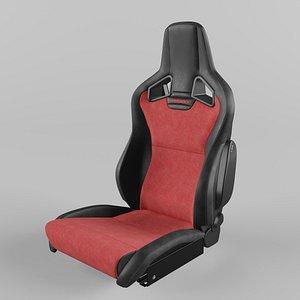 RECARO Cross Sportster CS Vinyl black Dinamica suede red Seat 3D model