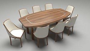 DinningTableset02 3D