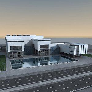 3D Modern Building 127 Scene model