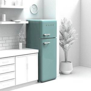 fridge smeg 3D
