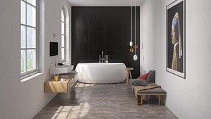 3D Modern Bathroom 2