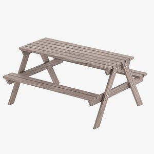 3D park table 02 model