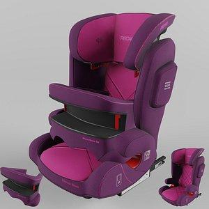 Recaro Monza Nova IS Children Car Seat Core Power Berry 3D model