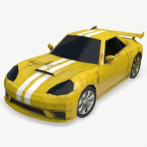 3D sports car cartoon model