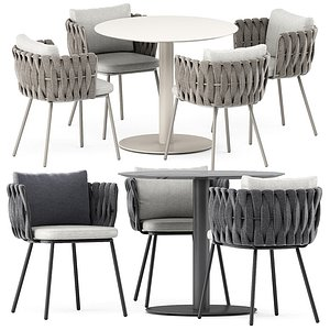 Tosca armchair and T-table 3D