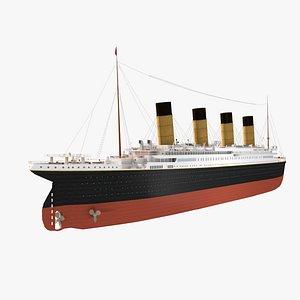 rms titanic ship 3D model