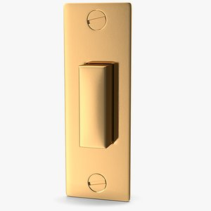 golden open metallic 3D model