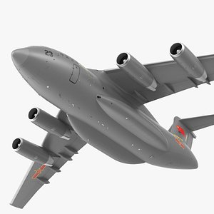 Xian Y20 Transport Aircraft Flight 3D