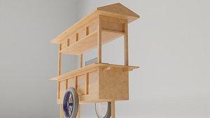 3D Cart Gerobak Indonesian